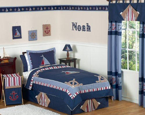 Sweet JoJo Designs Nautical Nights bedding for kids