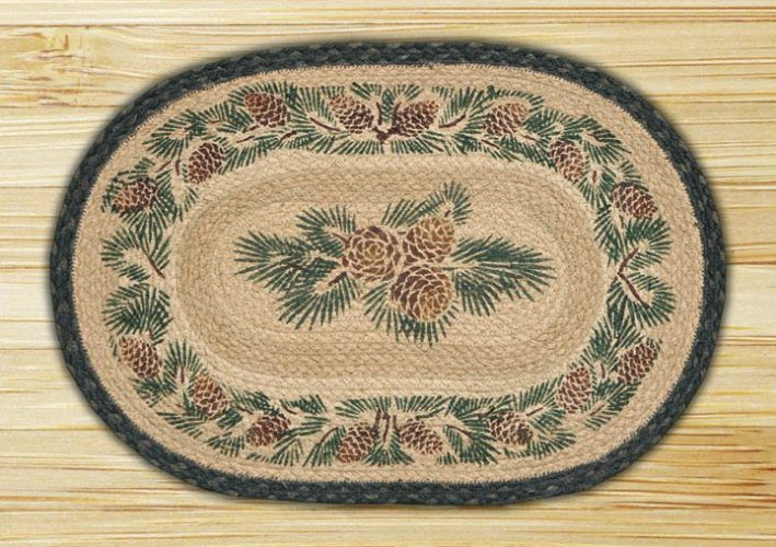 pine cone jute placemat