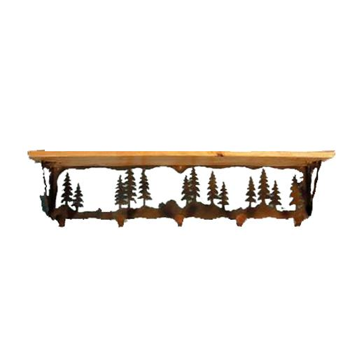 Pine tree wall shelf