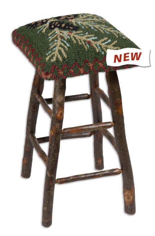 pine cone seat on bar stool
