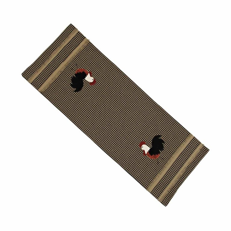 Raghu Rise and Shine rooster table runner
