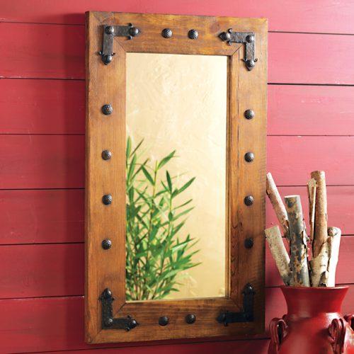 Rustic durango mirror