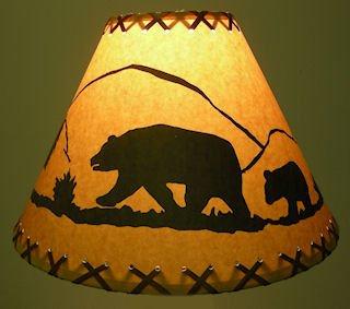 Rustic lamp shade with custom designs