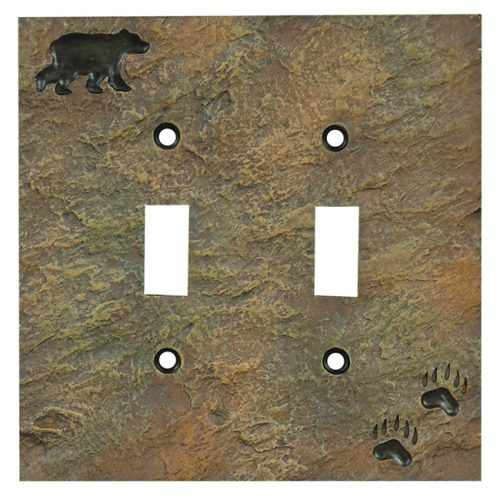 Stone bear double switch cover