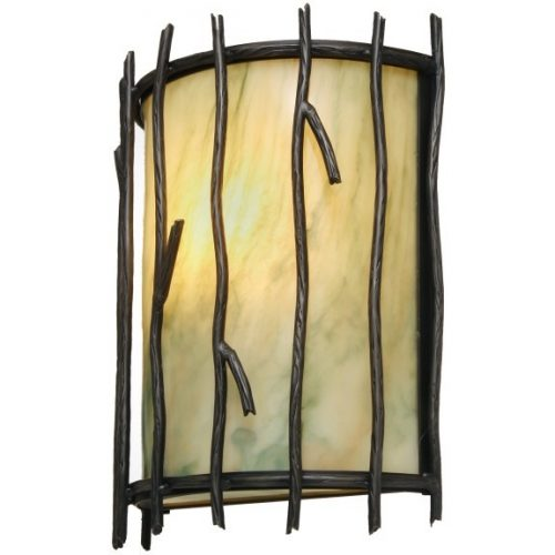 Timber Ridge sconce with twigs
