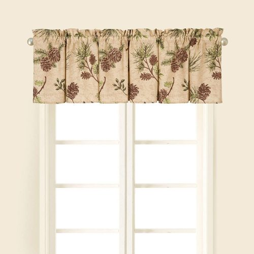Woodland Retreat pine cone valance