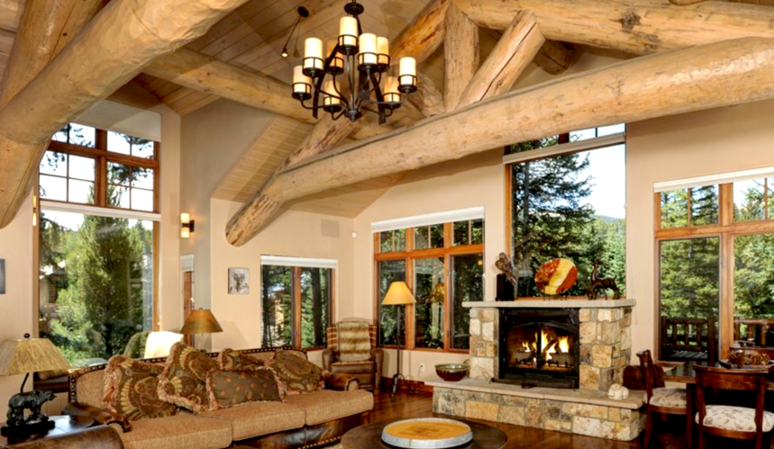 When you buy lighting fixtures for your log home, consider a chandelier like this one