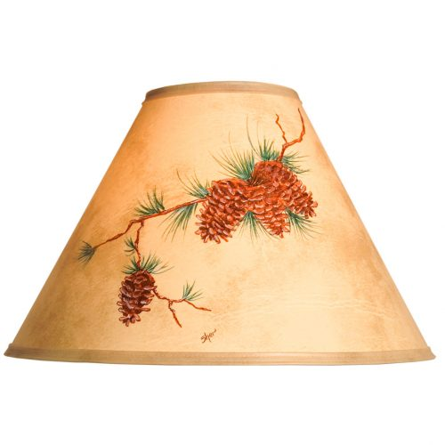 Hand painted pine cone lamp shade